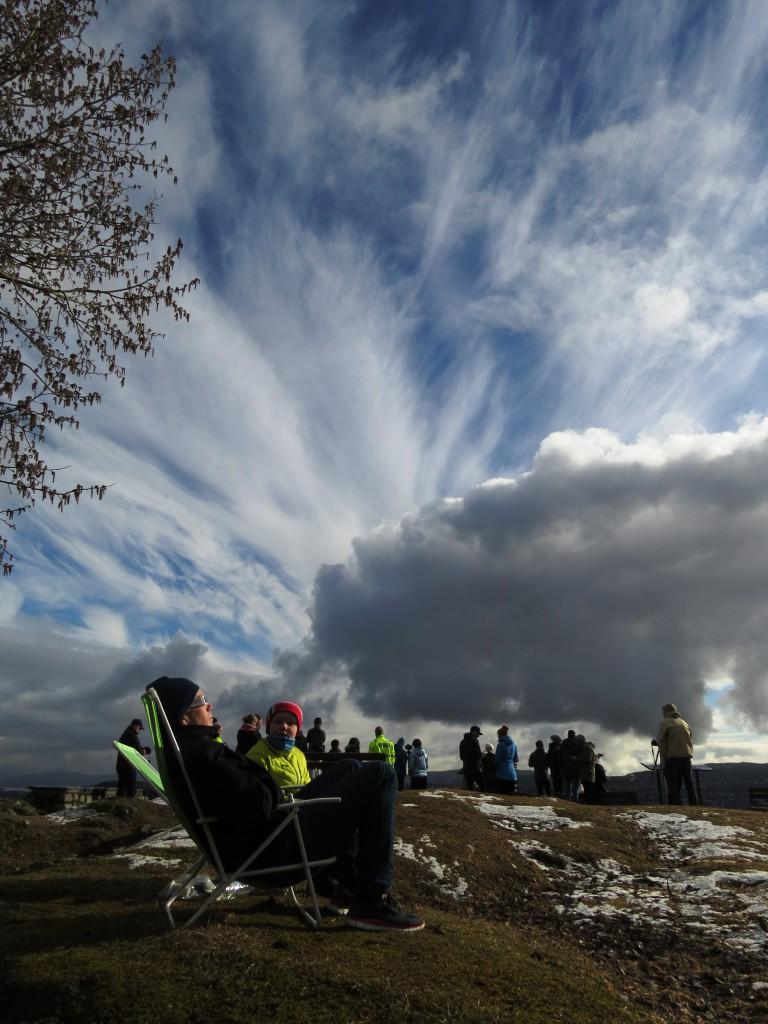 I Trondheim åpnet skydekket seg nettopp i de få timene da den utrolige solformørkelsen fant sted, på vårjevndøgn den 20. mars 2015. Foto: Tor Bollingmo.